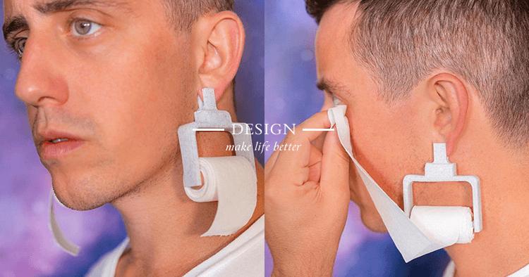 衛生紙耳環